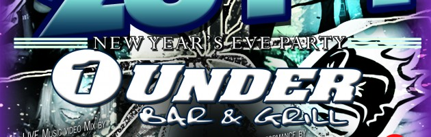 NYE 2014 with DJ X-Change at One Under Bar & Grill in Livonia, MI