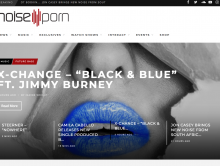 "NoisePorn Homepage Feature of ""Black & Blue"""