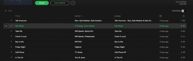 """Get Ready"" featured on the official Spotify Club Beats playlist"