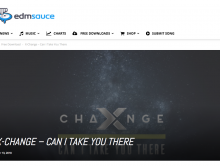 "EDMSauce front page feature on ""Can I Take You There"""