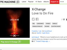 """Love Is On Fire"" featured on Hype Machine"